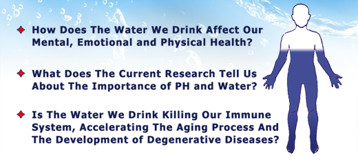 What does WATER mean to your Health?